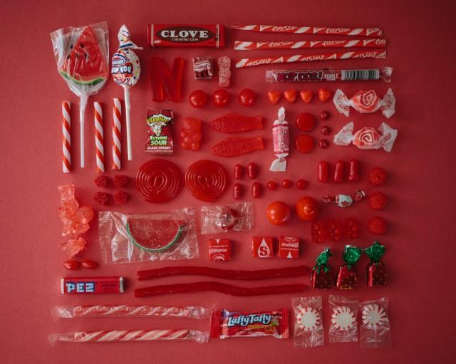 Des bonbons très colorés