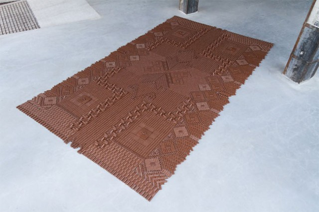 Un tapis en barres chocolatées