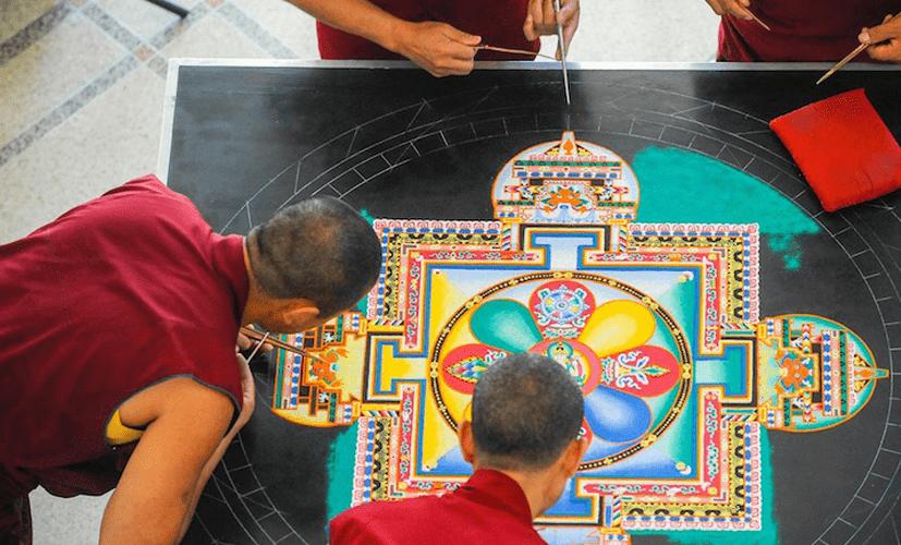 L'art des moines tibétains