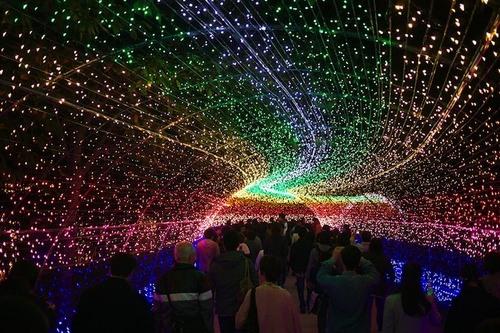 Un tunnel lumineux
