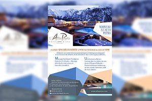 Flyer Alta Peyra maquette