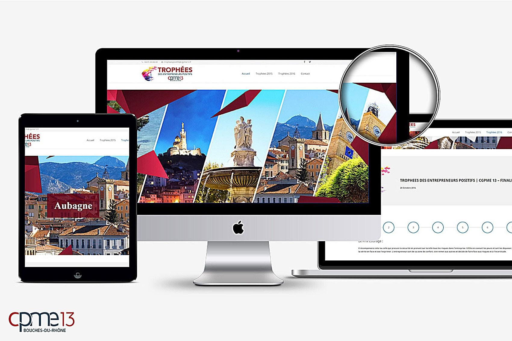 <span>Création web</span>CPME13 site Trophées
