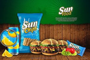 Ensemble packaging Sunfood